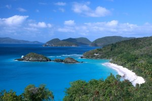 Trunk Bay, complete with self-guided underwater snorkel trail!