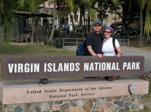 Outside the VINP Visitor Center in Cruz Bay