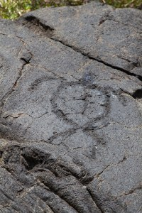 Petroglyph at Pu'u Loa