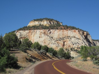 The quiet, eastern side of Zion National Park