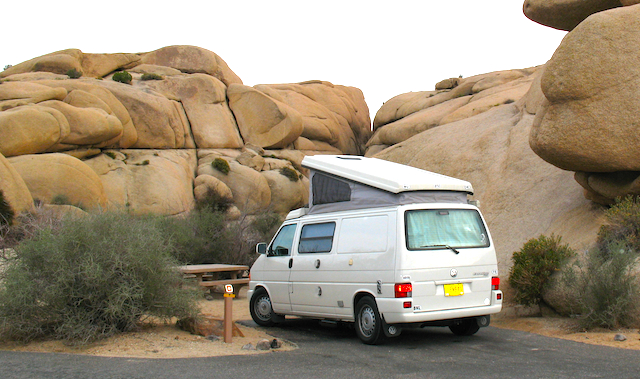 A sweet campsite in Joshua Tree National Park