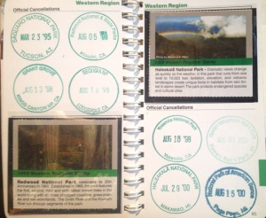 Our passport to the national parks!