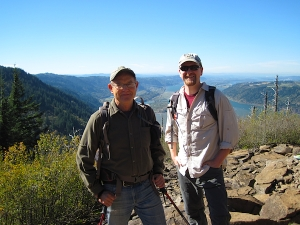 Two happy hikers atop Angel's Rest!