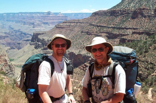 Grand Canyon backpackers - still smiling in Arizona!