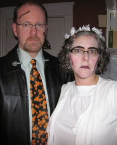 Our Halloween costumes last year, just for a laugh!