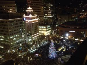 Portland's Christmas Tree in Pioneer Courthouse Square