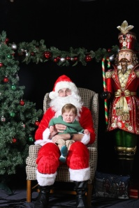 Apparently not everyone is happy to see Santa!