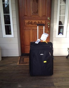 The luggage was lost so long it finally had to be shipped home by the airlines!