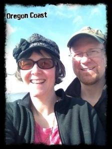 Enjoying some sunshine on the Oregon coast.