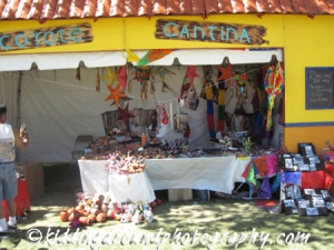 "One of the vendors at the shopping ""village"""