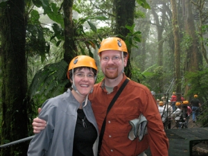 Heading up to our zipline canopy tour, Monteverde Costa Rica