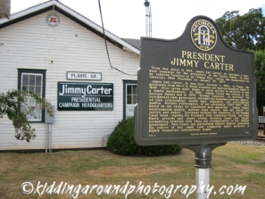 Carter's 1976 campaign HQ was the old Plains railroad station!