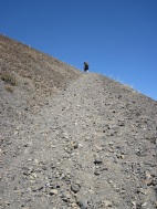 Climbing the steep back side of Cinder Cone
