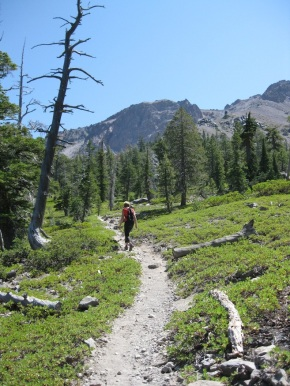 One of Lassen's backcountry trails
