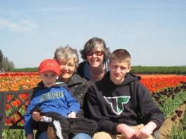 Family fun at the tulip festival