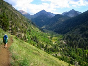 Hiking in the Mineral King wilderness