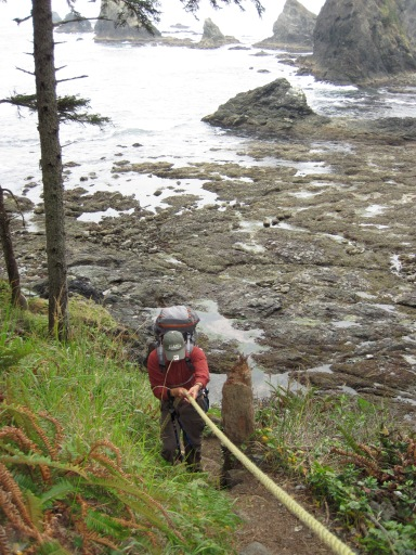 Climbing Olympic NP's coastal headlands