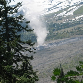 Dust devil of ash we saw while hiking on Mt. St. Helens.