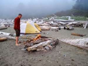 Camping ON Shi Shi Beach!