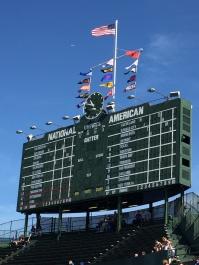 Wrigley's manually-operated scoreboard
