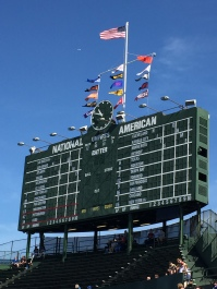 Wrigley's manually-operated scoreboard