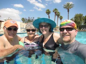 In the pool at Palm Springs