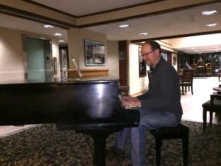 Jeff enjoying the lobby piano
