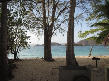View from our cottage in Virgin Islands NP