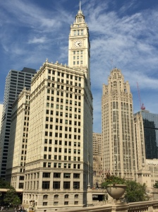The iconic Wrigley Building & Tribune Tower.