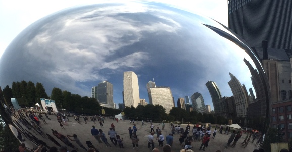 "Millenium Park's ""Cloud Gate,"" known locally as ""The Bean"""