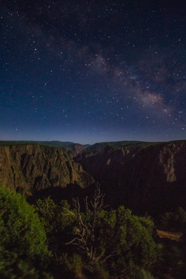Black Canyon of the Gunnison and the Milky Way