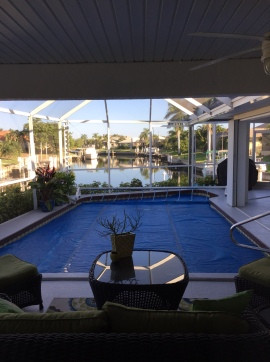The view from our Florida home exchange!