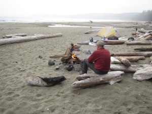 Campsite on Shi Shi Beach