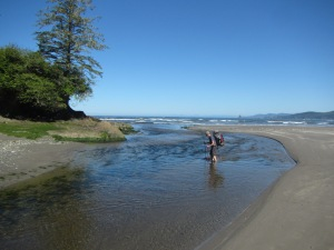 Fording the Ozette River