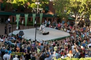 The Oregon Shakespeare Festival. 2015. Supaman Green Show. Photo: Jenny Graham.