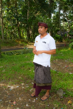 Our Balinese guide