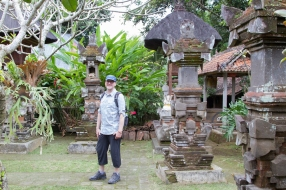 Balinese backyard shrines