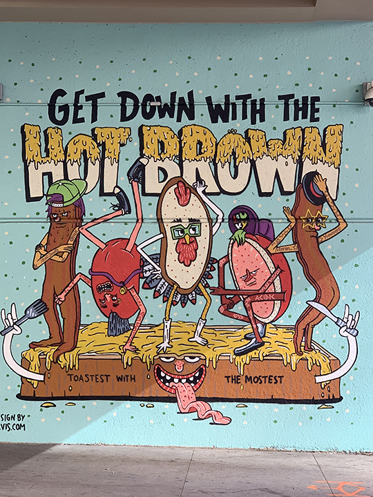 Hot Brown mural